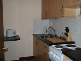 Kitchen for the Hinkley accommodation at the Acland Apartments Stogursey Bridgwater Somerset